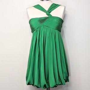 BCBG Draped Grecian Mini-Dress